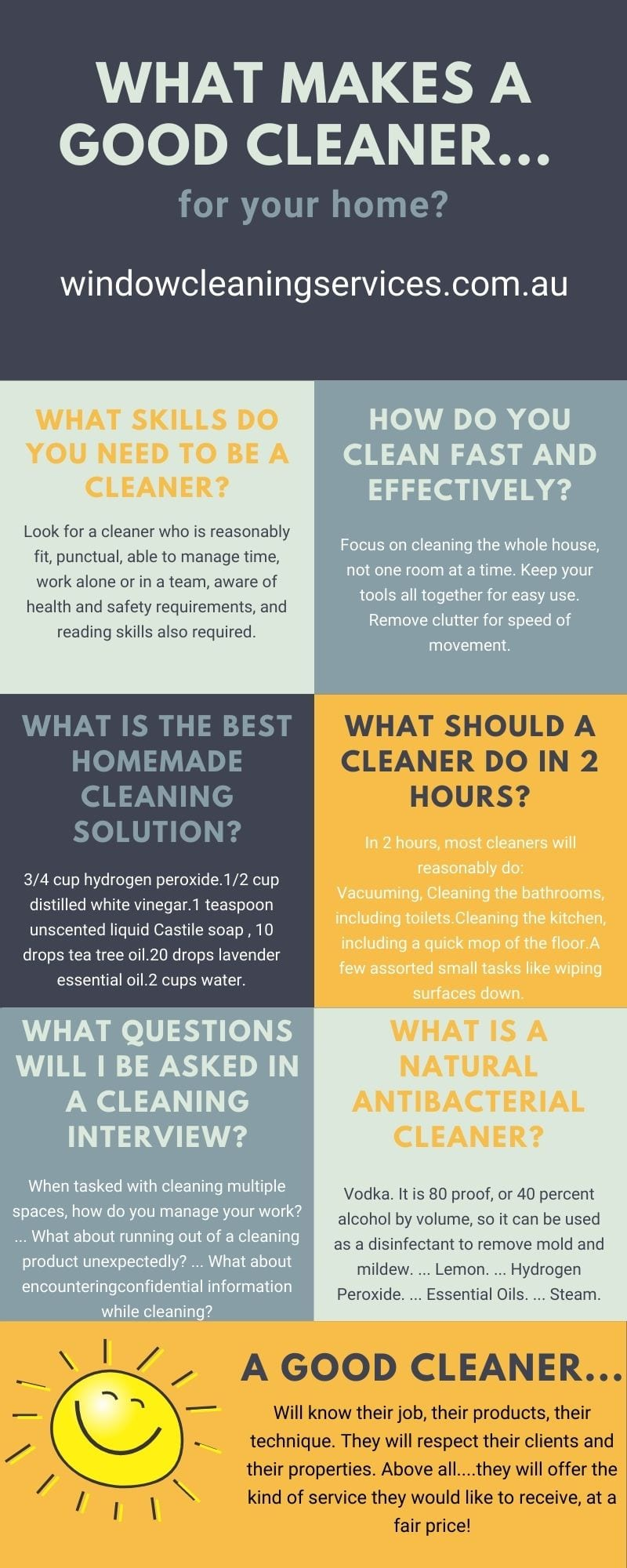 What Makes A Good Cleaner?